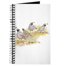 Covey of California Quail Birds Journal