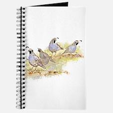 Covey of California Quail Birds Journal