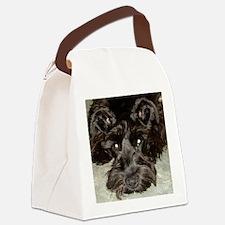 atticussquareface.JPG Canvas Lunch Bag