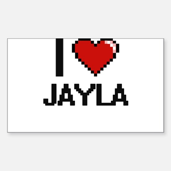 I Love Jayla Decal