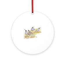 Covey of California Quail Birds Ornament (Round)