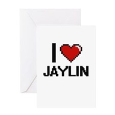 I Love Jaylin Greeting Cards