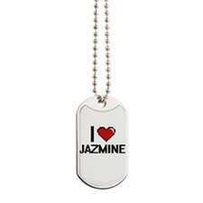 I Love Jazmine Dog Tags