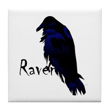 Raven Perched on Raven Tile Coaster