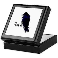 Raven Perched on Raven Keepsake Box