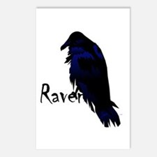 Raven Perched on Raven Postcards (Package of 8)