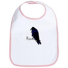 Raven Perched on Raven Bib