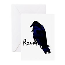 Raven Perched on Raven Greeting Cards (Pk of 10)