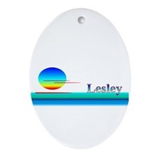 Lesley Oval Ornament