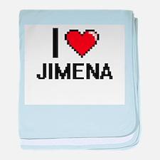 I Love Jimena baby blanket