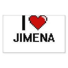 I Love Jimena Decal