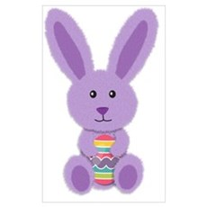Purple Easter Bunny Canvas Art