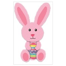 Pink Easter Bunny Canvas Art