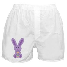 Purple Easter Bunny Boxer Shorts