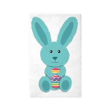 Blue Easter Bunny Area Rug