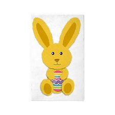 Yellow Easter Bunny Area Rug