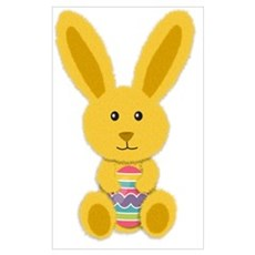 Yellow Easter Bunny Canvas Art