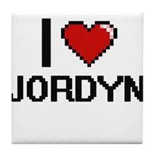 I Love Jordyn Tile Coaster