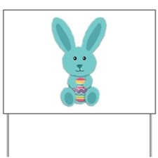 Blue Easter Bunny Yard Sign