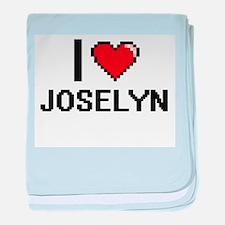 I Love Joselyn baby blanket