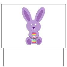 Purple Easter Bunny Yard Sign