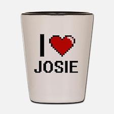 I Love Josie Shot Glass