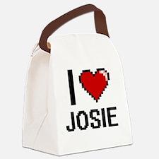 I Love Josie Canvas Lunch Bag