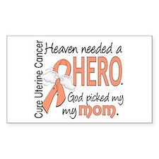 Uterine Cancer HeavenNeededHer Decal
