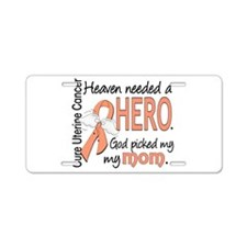 Uterine Cancer HeavenNeeded Aluminum License Plate