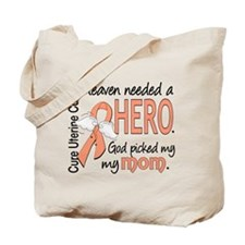 Uterine Cancer HeavenNeededHero1 Tote Bag