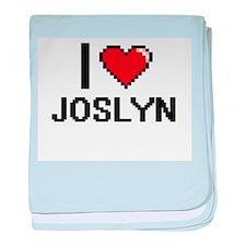 I Love Joslyn baby blanket