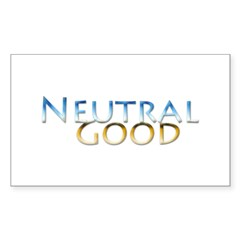 Neutral Good Rectangle Decal