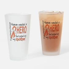 Uterine Cancer HeavenNeededHero1 Drinking Glass