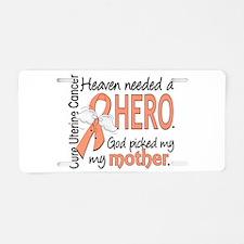 Uterine Cancer HeavenNeeded Aluminum License Plate