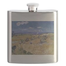Vincent Van Gogh Wheat Stacks With Reaper Flask