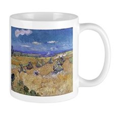 Vincent Van Gogh Wheat Stacks With Reaper Mugs
