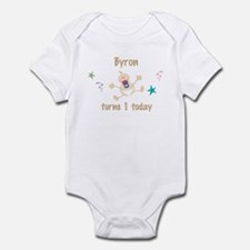 Byron turns 1 today Infant Bodysuit