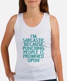Punching People is Frowned Upon Tank Top