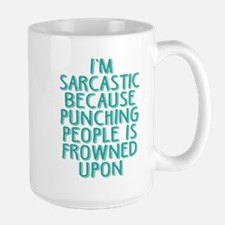 Punching People is Frowned Upon Mugs