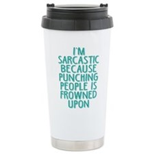 Punching People is Frow Travel Coffee Mug