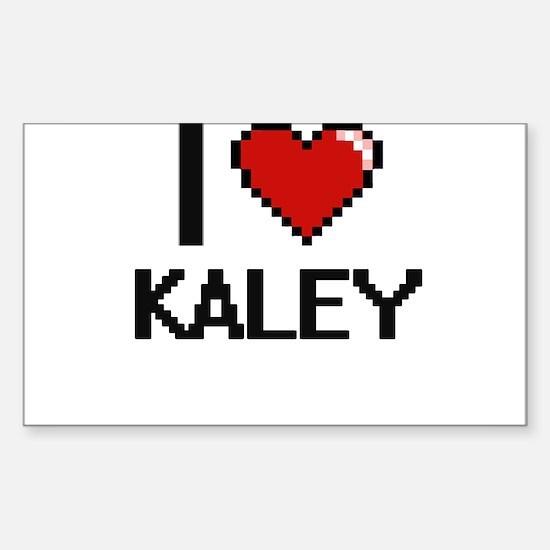 I Love Kaley Decal