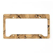 Golden Alligator Design License Plate Holder