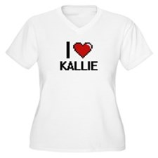 I Love Kallie Plus Size T-Shirt