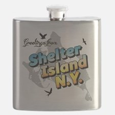 Shelter Island New York NY Long Island Flask