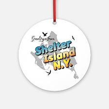 Shelter Island New York NY Long Isl Round Ornament