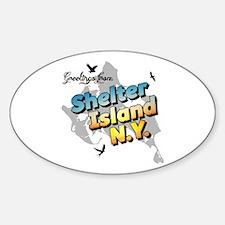 Shelter Island New York NY Long Isl Decal