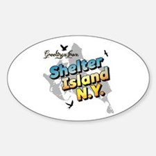 Shelter Island New York NY Long Isl Sticker (Oval)