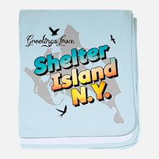 Shelter Island New York NY Long Islan baby blanket