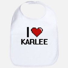 I Love Karlee Bib