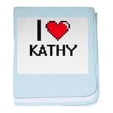 I Love Kathy baby blanket